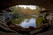 Hamilton Pool Posters - Hamilton Pool Autumn Colors - Texas Hill Country Poster by Rob Greebon