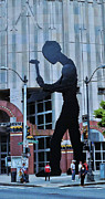 Allen Beatty Prints - Hammering Man Seattle Print by Allen Beatty