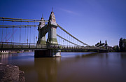 Chelsea Prints - Hammersmith Thames Bridge Print by David French