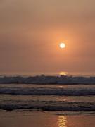 Hampton Beach In Morning Fog Print by Eunice Miller