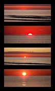 Eunice Miller Metal Prints - Hampton Beach Sunrise Collage Metal Print by Eunice Miller