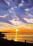 Paul Mitchell Art - Hampton Beach Sunset by Paul Mitchell