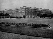 Hampton Court Prints - Hampton Court Palace in England 1890 Photo Print by Antique Engravings