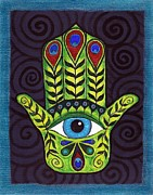 Fatima Paintings - Hamsa by Melissa Freeman
