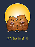 Couple Mixed Media - Hamsters Over The Moon by Joyce Geleynse