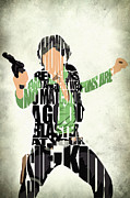 Typographic  Digital Art Posters - Han Solo from Star Wars Poster by Ayse T Werner