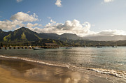 Paradise Pier Framed Prints - Hanalei Bay Pier - Kauai Hawaii Framed Print by Brian Harig