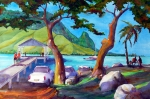 Pier Prints - Hanalei Pier Print by Jerri Grindle
