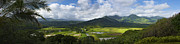Hanalei Framed Prints - Hanalei Valley Panorama - Kauai Hawaii Framed Print by Brian Harig