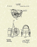 Wheel Drawings - Hand Cart 1889 Patent Art by Prior Art Design