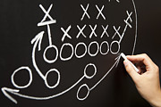 Football Safety Prints - Hand drawing a game strategy Print by Ivelin Radkov
