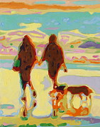 Thomas Bertram POOLE - Hand in Hand on Beach...