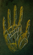 Hand Drawings Metal Prints - Hand Metal Print by Kd Neeley