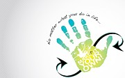 Hand Drawing Prints - Hand of Life Print by Sanely Great