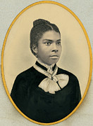 Negro Framed Prints - Hand Tinted Portrait Of A Girl Framed Print by Underwood Archives