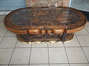 Coffee Table Sculptures - Handcrafted African Big five Coffee Table by Untitled