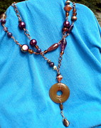 Resin Jewelry - Handcrafted Wire Necklace by Beth Sebring