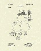Handcuff 1899 Patent Art Print by Prior Art Design