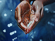 Hyperrealistic Painting Prints - Hands No. 2 Print by Kimberly Burnett