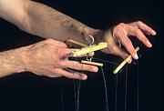 Hands Of A Puppeteer Print by Bernard Jaubert
