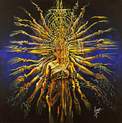 Perform Metal Prints - Hands of Compassion Metal Print by Karina Llergo Salto