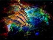Universe Mixed Media - Hands of creation by Evelyn Patrick