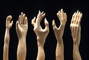 Accident Prints - Hands of wood puppets Print by Bernard Jaubert