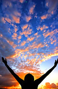 Positive Photos - Hands up to the sky showing happiness by Michal Bednarek