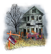 Haunted House Digital Art Framed Prints - Handymans Special Framed Print by Mark Armstrong