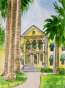Sketchbook Painting Prints - Hanford - California Sketchbook Project Print by Irina Sztukowski