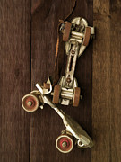 Old Skates Photo Prints - Hang Up Your Skates - Oil Print by Edward Fielding