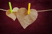 Hanged Heart Print by Carlos Caetano