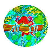 Frogs Tapestries - Textiles Posters - Hangin Poster by Kelly     ZumBerge