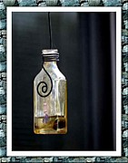 Sutton Mixed Media - Hanging Bottle by Judy Sutton