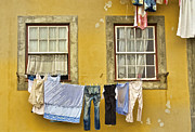 Drying Clothes Framed Prints - Hanging Clothes of Old Europe II Framed Print by David Letts