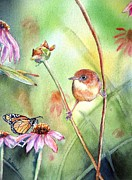 Monarch Butterfly Paintings - Hanging in There by Patricia Pushaw