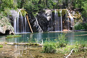 Bridal Veil Falls Framed Prints - Hanging Lake Framed Print by Eric Glaser