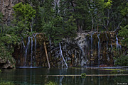 Sandoval Framed Prints - Hanging Lake Framed Print by Lena Sandoval-Stockley