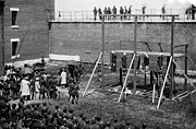 Mary Powell Photos - Hanging of Lincoln Conspirators Mary Surratt Lewis Powell David Herold George Atzerodt by David Call