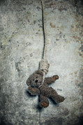 Stuffed Bear Prints - Hanging On The Gallows Print by Joana Kruse