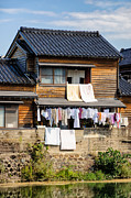 Hanging Out To Dry - Laudry Day In Japan Print by David Hill