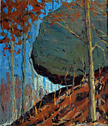 Famous Acrylic Landscape Paintings - HANGING ROCK No.1 by Charlie Spear