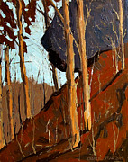 Hanging Painting Posters - HANGING ROCK No.2 Poster by Charlie Spear