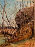 Painted Pastels - Hanging Rock by Tim  Swagerle