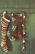 Sandra Cunningham - Hanging stockings ready for Christmas