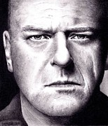 Hank Framed Prints - Hank Schrader -  Breaking Bad Framed Print by Rick Fortson