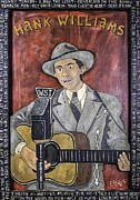 Indiana Art Painting Prints - Hank Williams Print by Eric Cunningham