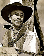 John Wayne Posters - Hank Worden publicity photo Red River 1948 Poster by David Lee Guss