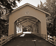 Tim Moore Prints - Hannah Covered Bridge Print by Tim Moore