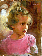 Little Girl Framed Prints - Hannah Framed Print by Douglas Simonson